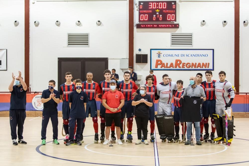 Famiglia Iapichello insieme al Sindaco di Scandiano, presidente Germini e squadra RH Scandiano